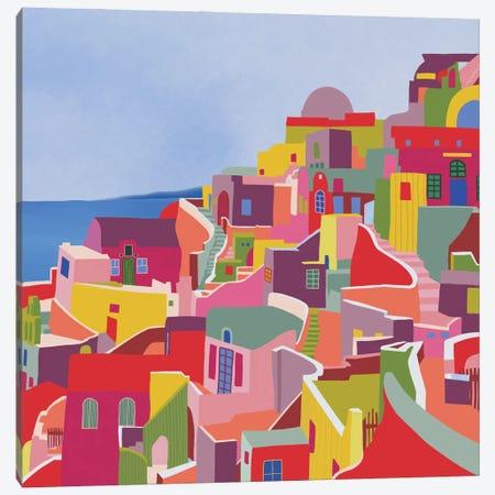 Santorini Canvas Print #CEY27} by Ceyda Alasar Canvas Art Print