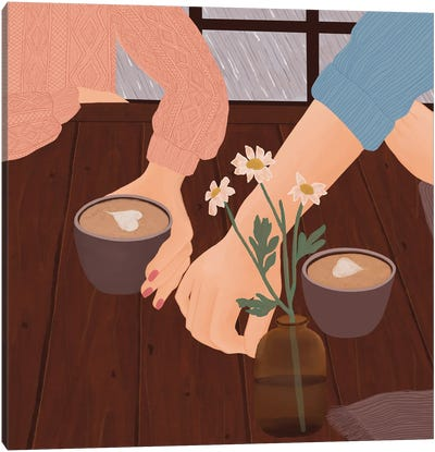 One More Cup Of Coffee Canvas Art Print