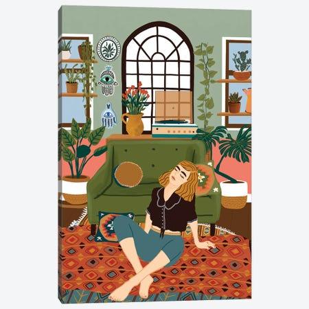Album On Repeat Canvas Print #CEY2} by Ceyda Alasar Canvas Wall Art