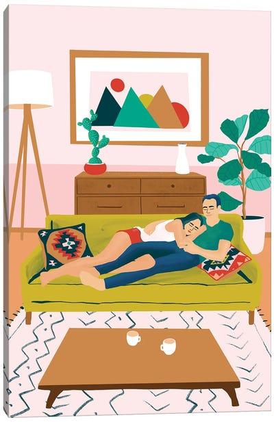 Couch Potatoes Canvas Art Print