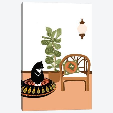 Boho Cat Canvas Print #CEY37} by Ceyda Alasar Canvas Artwork
