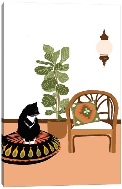 Boho Cat Canvas Art Print