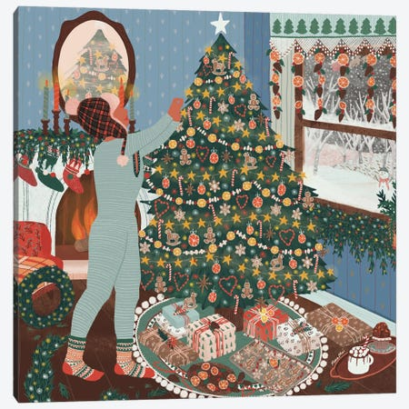 Christmas Tree Canvas Print #CEY3} by Ceyda Alasar Canvas Artwork