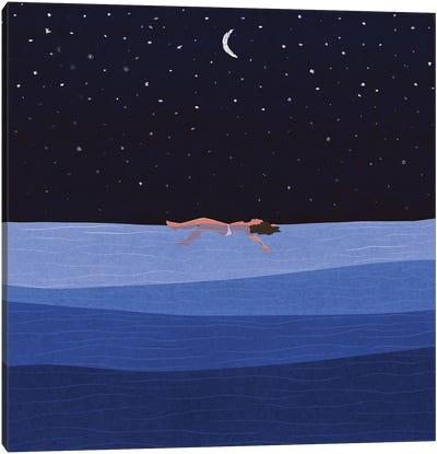 Floating In The Sea Canvas Art Print