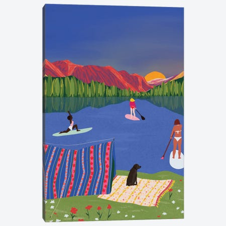 Paddle It Out Canvas Print #CEY42} by Ceyda Alasar Canvas Artwork