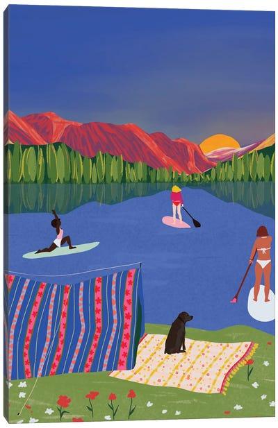 Paddle It Out Canvas Art Print