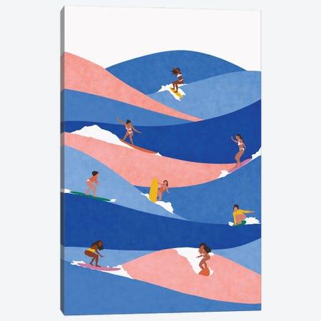 Surf Like A Girl Canvas Print #CEY44} by Ceyda Alasar Canvas Art Print