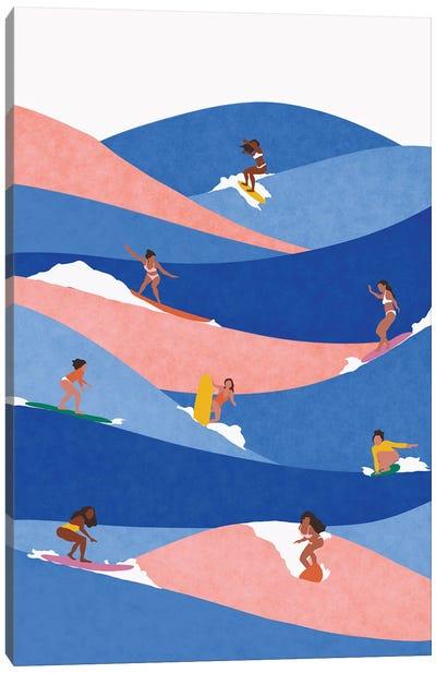 Surf Like A Girl Canvas Art Print