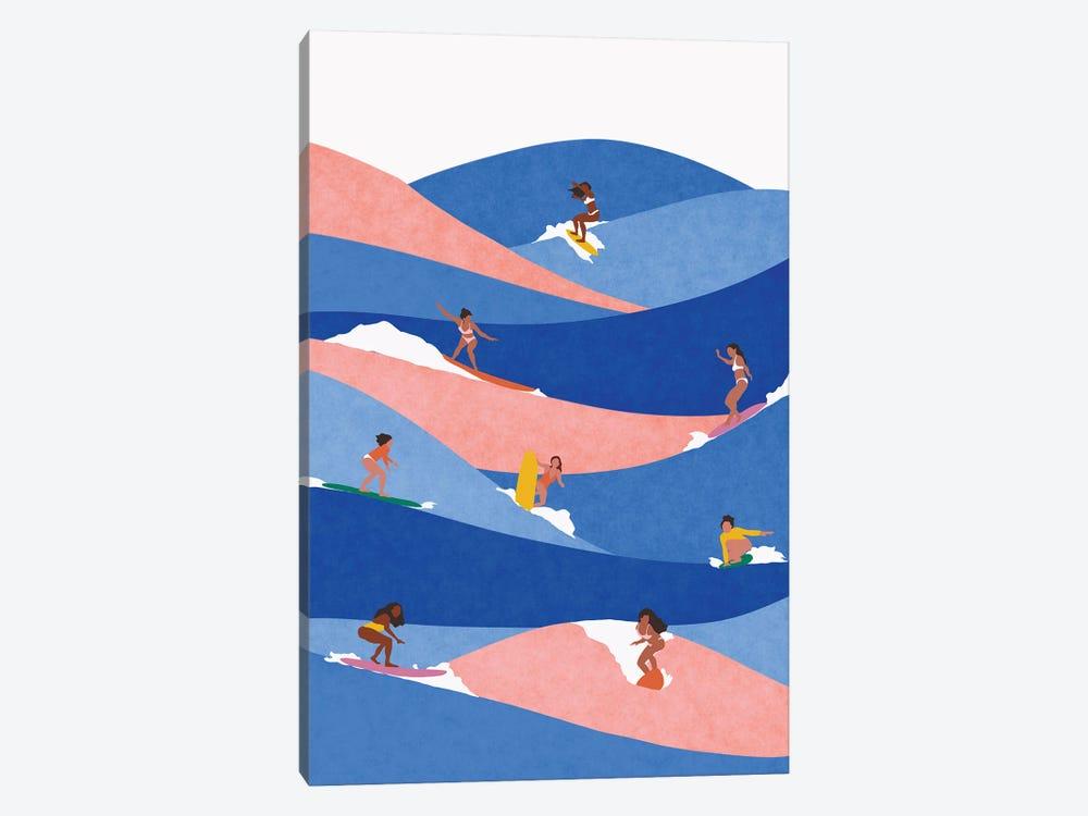 Surf Like A Girl by Ceyda Alasar 1-piece Canvas Artwork