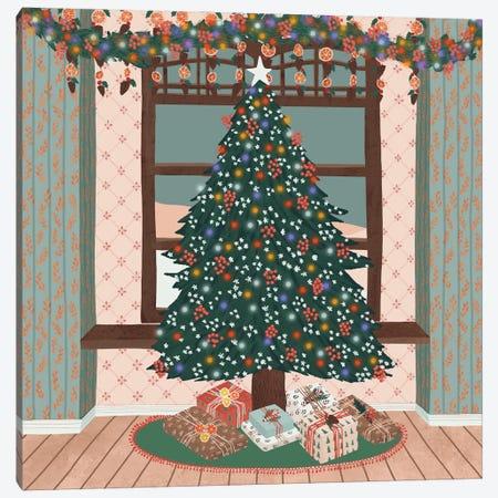 Merry Christmas Canvas Print #CEY45} by Ceyda Alasar Canvas Art Print