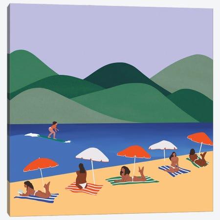 Sun Bathing Canvas Print #CEY47} by Ceyda Alasar Canvas Art Print