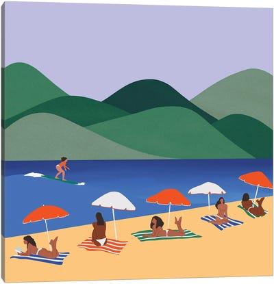 Sun Bathing Canvas Art Print