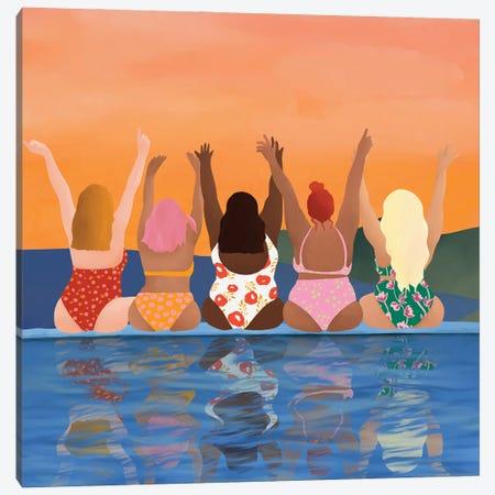 Girl Power Canvas Print #CEY49} by Ceyda Alasar Canvas Wall Art
