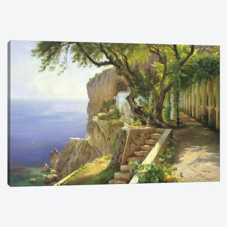 Pergola In Amalfi Canvas Print #CFA3} by Carl Frederic Aagaard Canvas Wall Art