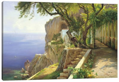 Pergola In Amalfi Canvas Art Print