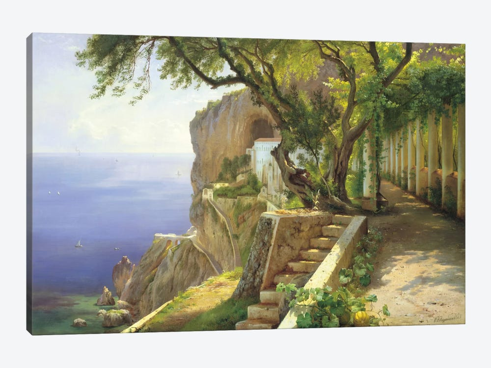 Pergola In Amalfi by Carl Frederic Aagaard 1-piece Canvas Art Print