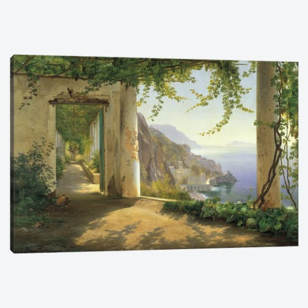 View To The Amalfi Coast Canvas Print #CFA4} by Carl Frederic Aagaard Canvas Art Print
