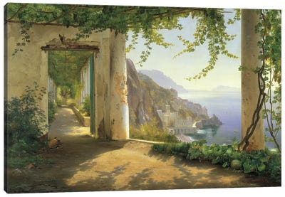 View To The Amalfi Coast Canvas Art Print
