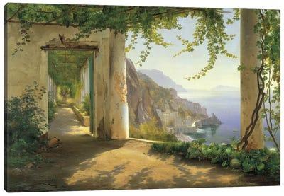 View To The Amalfi Coast Canvas Art Print