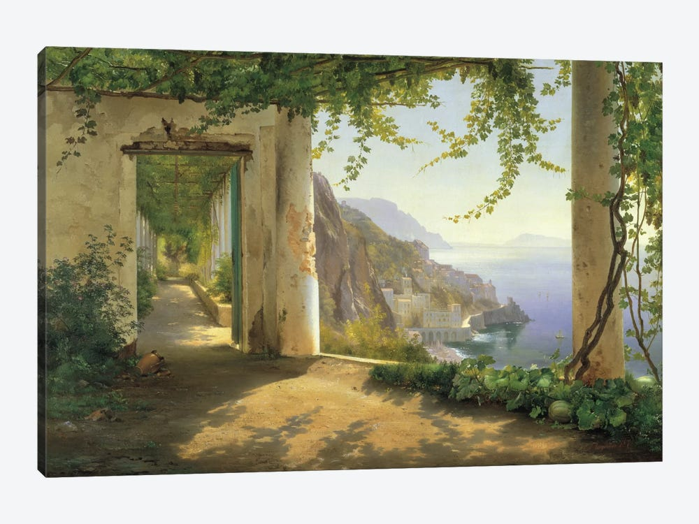 View To The Amalfi Coast by Carl Frederick Aagaard 1-piece Canvas Art