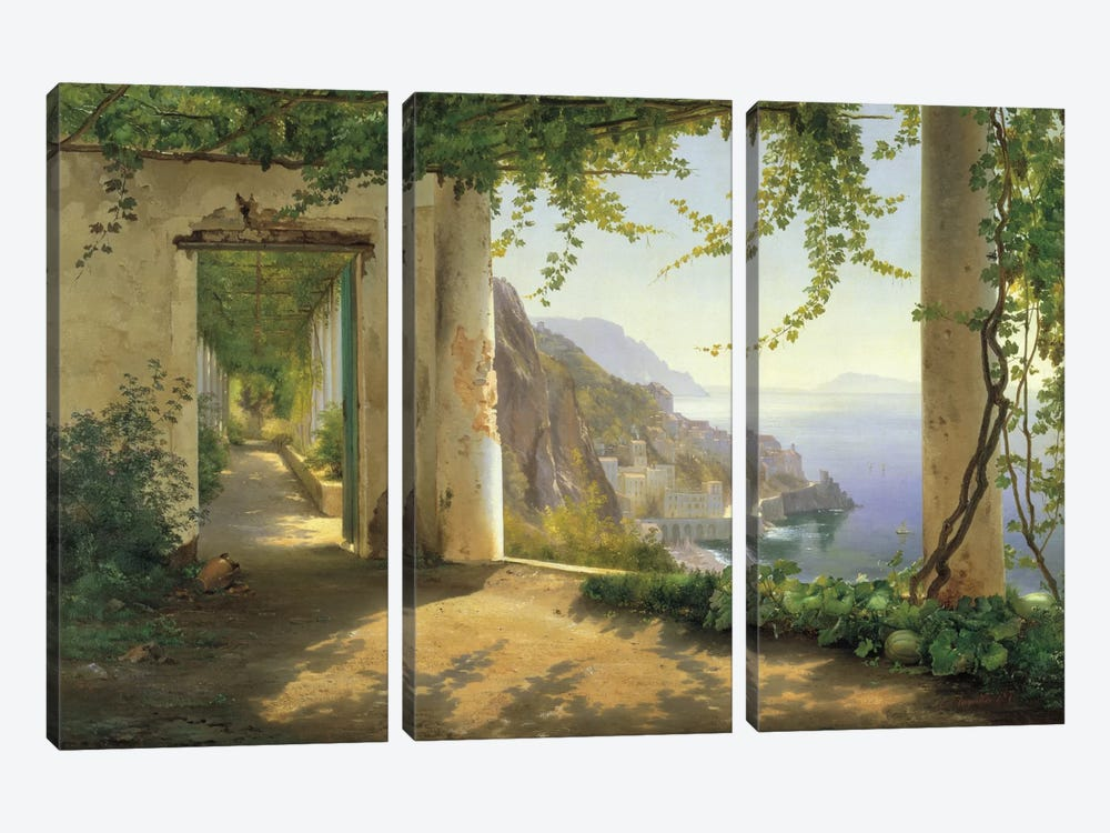 View To The Amalfi Coast by Carl Frederick Aagaard 3-piece Canvas Artwork