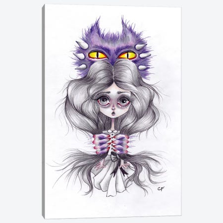Monsters In My Head Canvas Print #CFI17} by Christine Fields Canvas Artwork