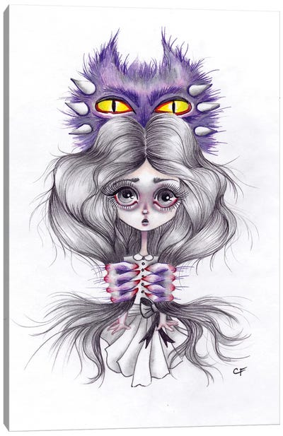 Monsters In My Head Canvas Art Print