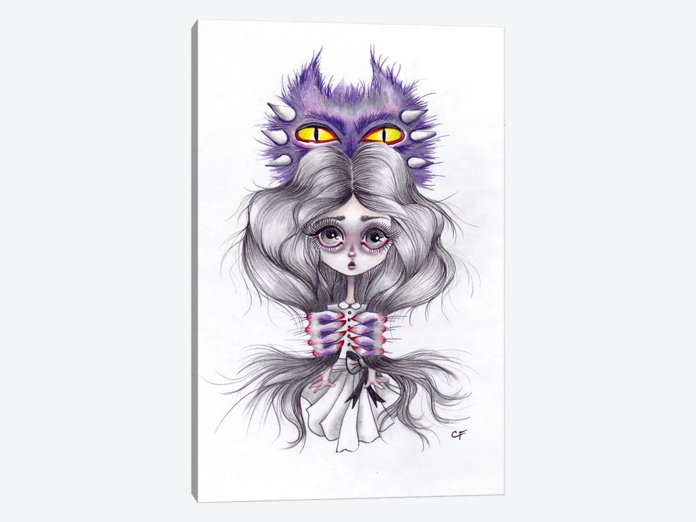 Monsters In My Head by Christine Fields 1-piece Canvas Print