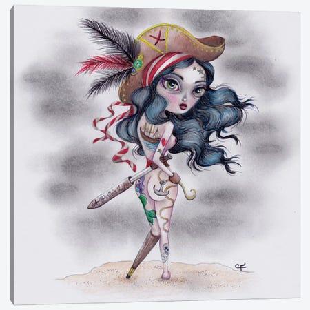 Pirate's Booty Canvas Print #CFI18} by Christine Fields Canvas Art Print