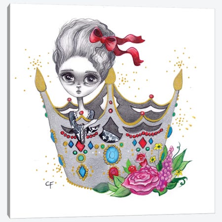 She Who Wears The Crown Canvas Print #CFI20} by Christine Fields Canvas Artwork