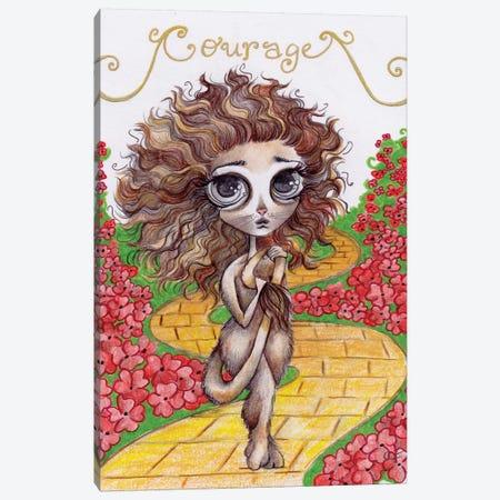 The Cowardly Lion Canvas Print #CFI23} by Christine Fields Canvas Art