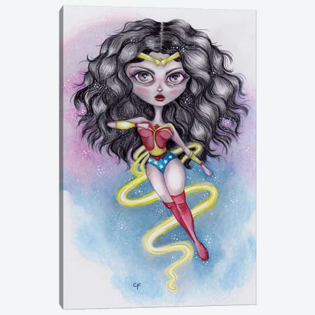 Wonder Woman Canvas Print #CFI29} by Christine Fields Canvas Art