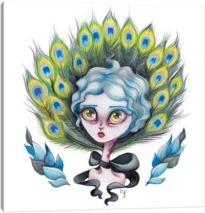 Lady Peacock Canvas Art Print