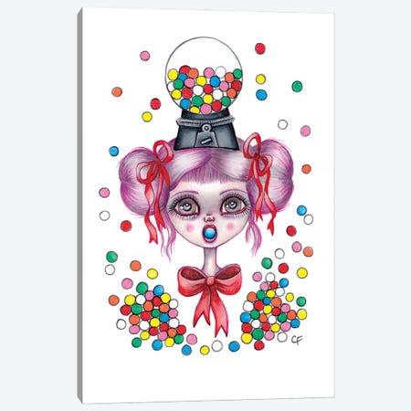 Gumball Girl Canvas Print #CFI53} by Christine Fields Canvas Art Print