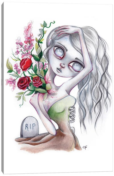 Graveyard Girl Canvas Art Print