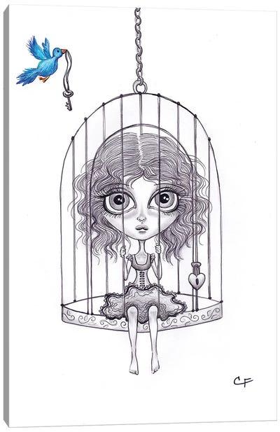 Caged Canvas Art Print