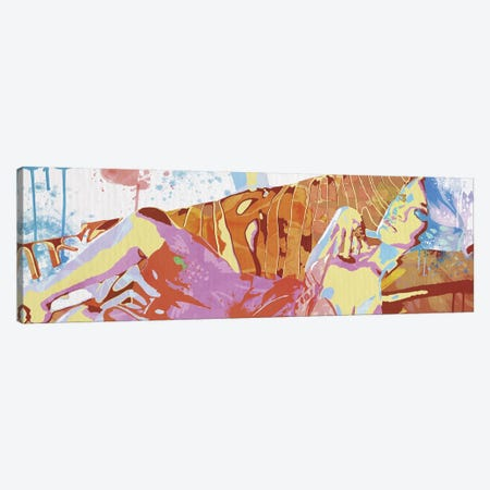 Reclining Sentimental 3-Piece Canvas #CFN9} by 5by5collective Canvas Print