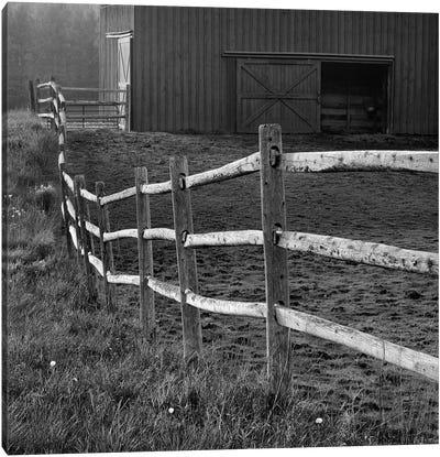 Barn Fence Canvas Art Print