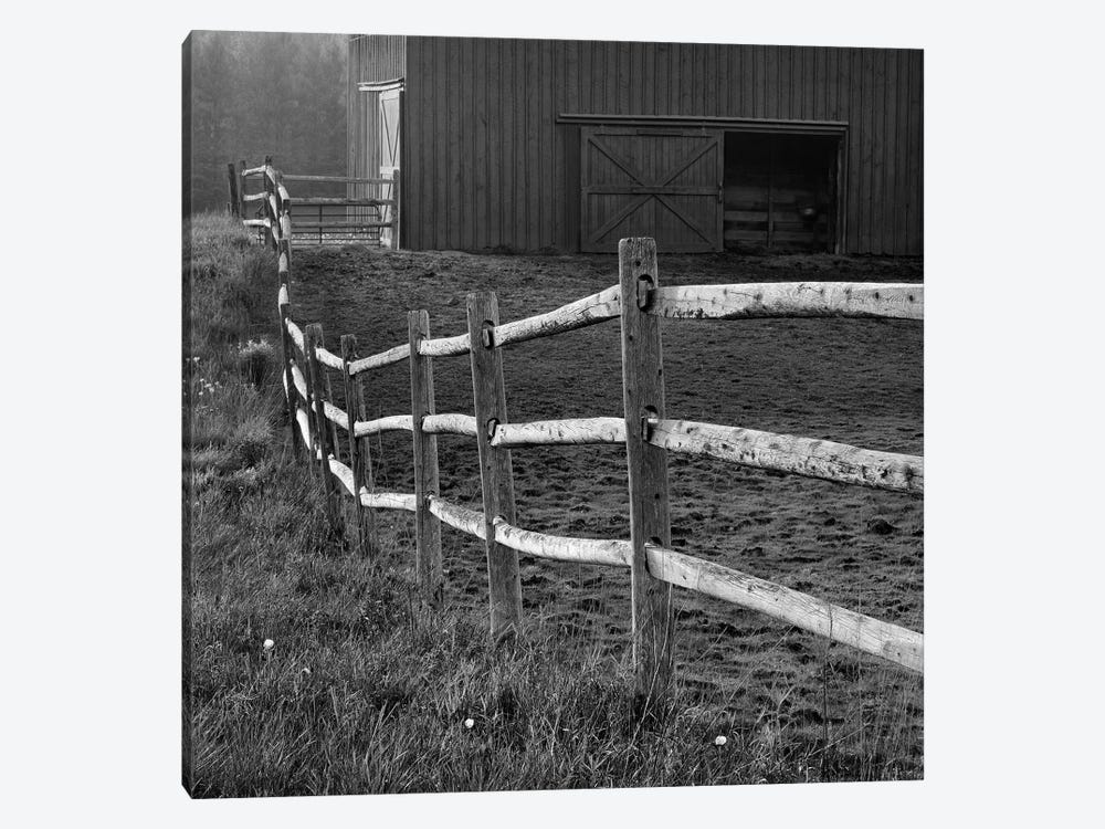 Barn Fence by Chip Forelli 1-piece Canvas Wall Art