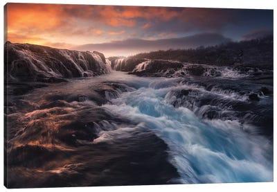 Blue Flow Canvas Art Print