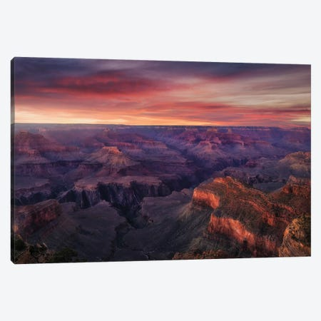 Canyon On Fire Canvas Print #CFT6} by Carlos F. Turienzo Canvas Art Print