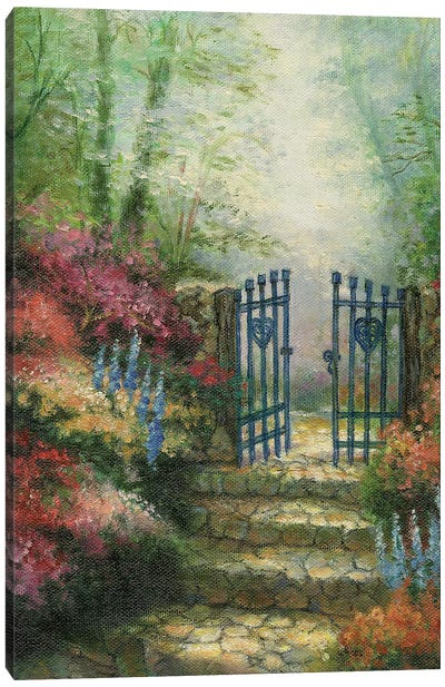 Woodland Gate Rose Canvas Art Print