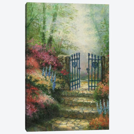 Woodland Gate Rose 3-Piece Canvas #CGA9} by Charles Gaul Canvas Art Print