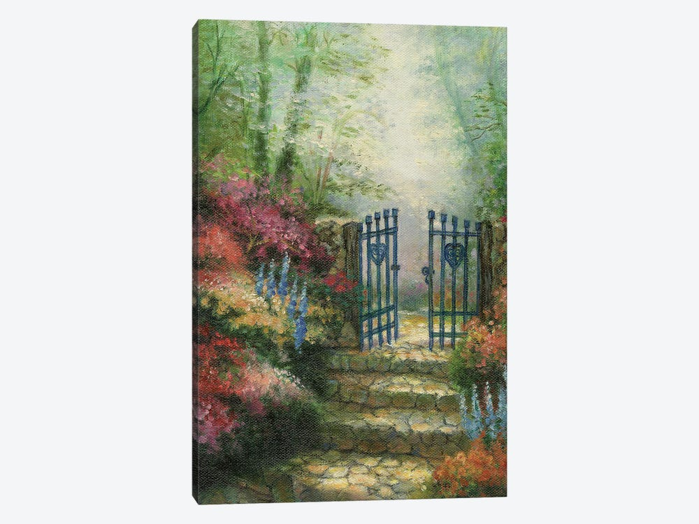 Woodland Gate Rose by Charles Gaul 1-piece Canvas Wall Art