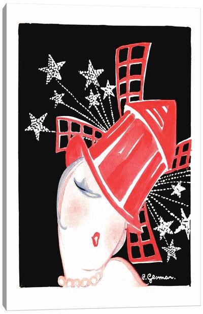 Moulin Rouge Programme: Paris Aux Etoiles, 1920s Canvas Art Print