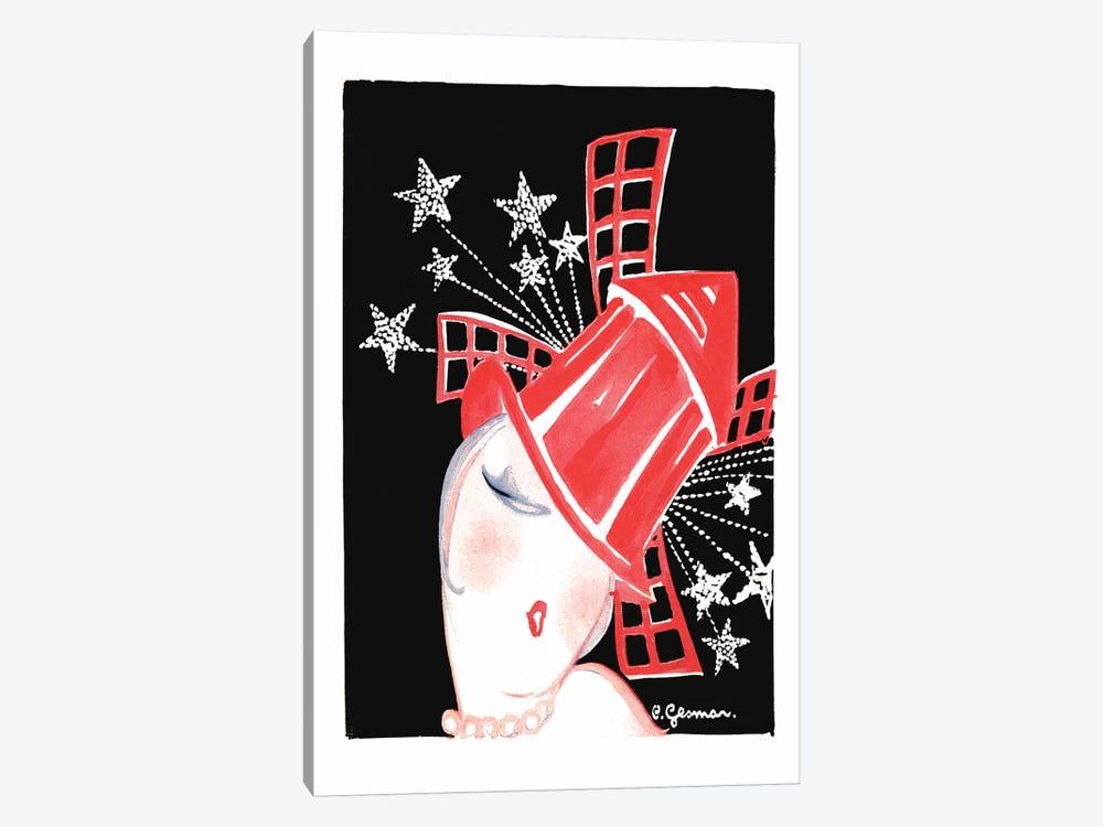Moulin Rouge Programme: Paris Aux Etoiles, 1920s by Charles Gesmar 1-piece Canvas Artwork