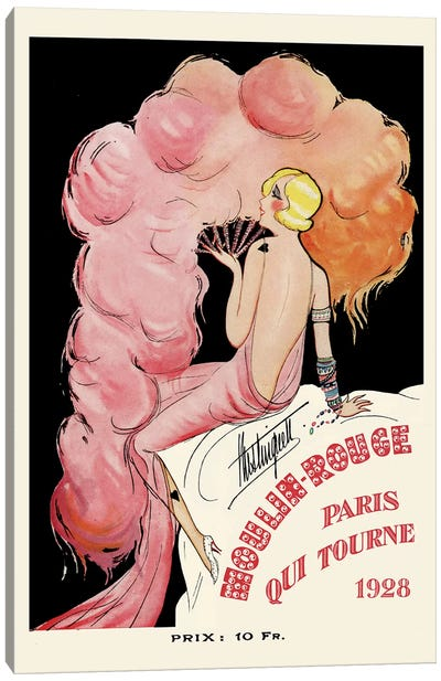 Moulin Rouge Programme: Paris Qui Tourne, 1928 Canvas Art Print