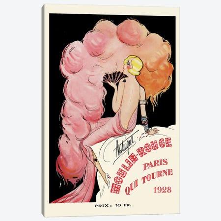 Moulin Rouge Programme: Paris Qui Tourne, 1928 Canvas Print #CGE2} by Charles Gesmar Canvas Art Print