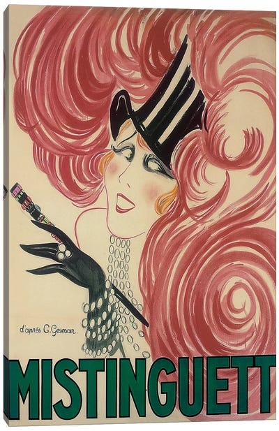 Moulin Rouge Mistinguett Advertisement, 1925 Canvas Art Print