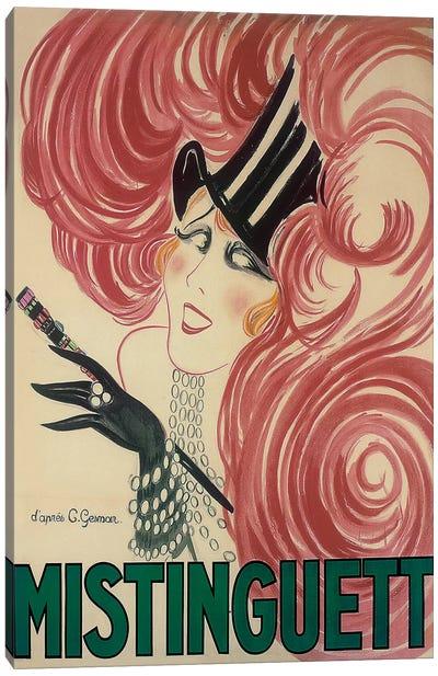 Moulin Rouge Mistinguett Advertisement, 1925 Canvas Art Print